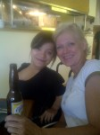 With Aunt Tracey